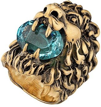 Gucci embellished Lion head ring