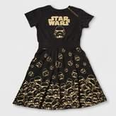 Star Wars Girls' Darth Vader A Line Dress - Black