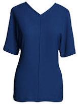 modern Women's Relaxed V-neck Tee-Cobalt Shadow