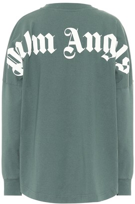 Palm Angels Logo cotton long-sleeved top