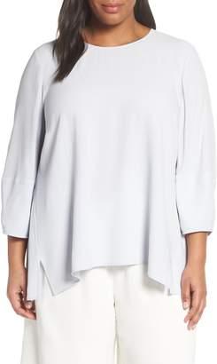 Eileen Fisher Boxy Silk Blouse (Plus Size)
