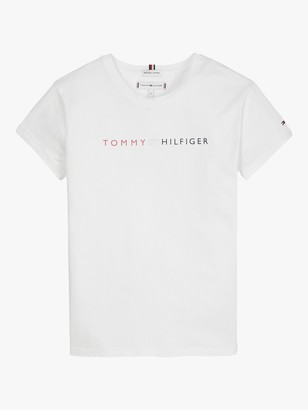Tommy Hilfiger Girls' Essential Rolled Sleeve T-Shirt