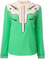 Coach embellished rocket shirt - women - Silk - 2