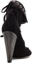 Isabel Marant Milla Calfskin Velvet Leather Moccassin Booties