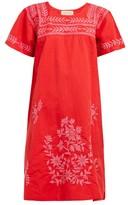 Muzungu Sisters - San Pedro Embroidered Cotton-blend Dress - Womens - Red Multi