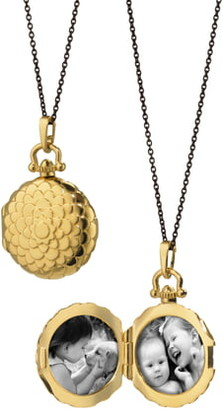 Monica Rich Kosann Scalloped Locket Necklace