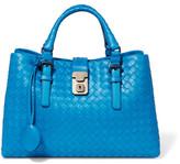 Bottega Veneta Roma Small Intrecciato Leather Tote - Blue