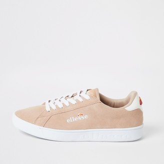 Ellesse River Island Womens Pink suede lace-up trainers