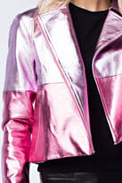 Honey Punch Pink Metallic Jacket
