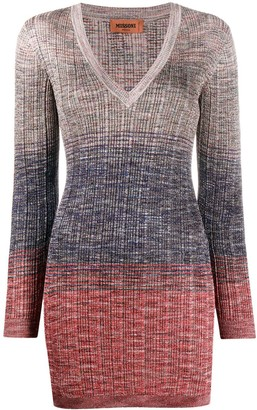 Missoni Ombre Textured-Knit Dress