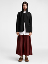 DKNY Hooded Wool Coat