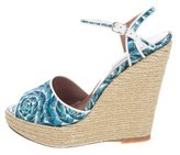 Tabitha Simmons Satin Espadrille Wedges w/ Tags