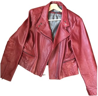 Kenneth Cole Red Leather Coat for Women