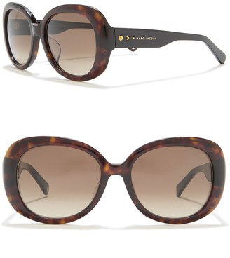 Marc Jacobs 55mm Oversized Round Sunglasses