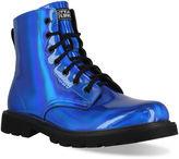 Blue Combat Boots - ShopStyle