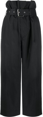 Plan C High-Waisted Belted Trousers