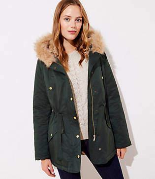 LOFT Tall Faux Fur Lined Hooded Parka
