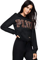 PINK Bling Boyfriend Cropped Pullover