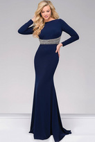 Jovani Jersey Fitted Long Sleeve Prom Dress 48979