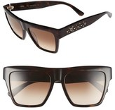 MCM Women's 55Mm Studded Navigator Sunglasses - Black