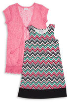 Iris & Ivy Girls 7-16 Chevron Shift Dress and Cardigan Set