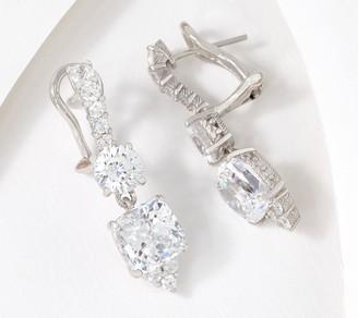 Judith Ripka Sterling Silver or 14K Clad Diamonique Earrings