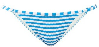 Solid & Striped The Lulu Striped Bikini Briefs - Womens - Blue White