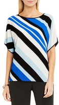 Vince Camuto Women's Dolman Sleeve Mixed Media Tee