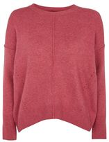 Topshop Pointelle crew neck jumper