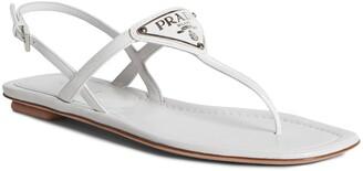 Prada Triangle Logo Sandal