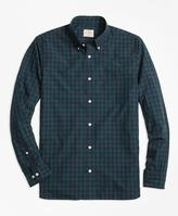 Brooks Brothers Black Watch Tartan Broadcloth Sport Shirt