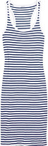 Florence striped cotton-blend jersey dress