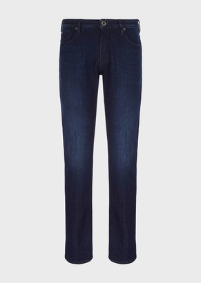 Emporio Armani Slim-Fit, J06 Light Scraper Denim Jeans