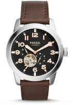 Fossil Pilot 54 Automatic Dark Brown Leather Watch