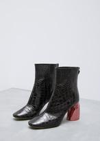 Ellery black / pink jezebels croc bootie