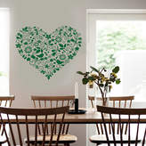 STUDY SnuggleDust Studios Heart Art Floral Design Wall Sticker