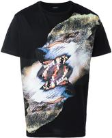 Marcelo Burlon County of Milan wolf print T-shirt - men - Cotton/Polyester - XS