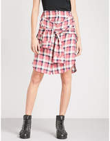 Diesel O-planet high-rise brushed cotton skirt