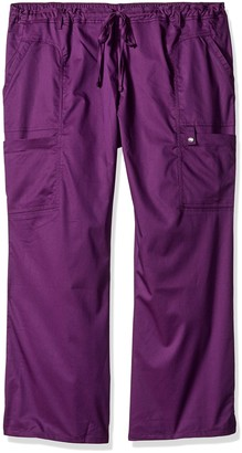 Cherokee Women's Petite-Plus-Size Jr. Fit Low-Rise Drawstring Cargo Pant