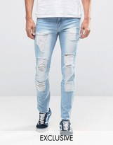 Hero's Heroine Heros Heroine Slim Jeans With Distressing
