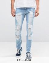 Hero's Heroine Heros Heroine Slim Jeans With Distressing