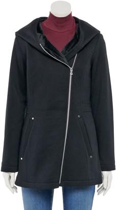 Details Women's Plush Hood Tweed Jacket