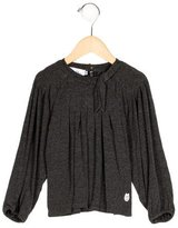 Christian Dior Girls' Pleated Long Sleeve Top