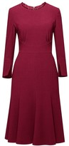 Christina Rumour London Burgundy Fluted Dress