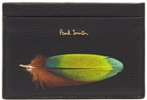 Paul Smith Feather-print leather cardholder