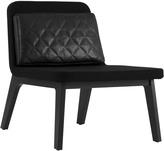 Houseology addinterior LEAN Chair Black Wool - Black Oak Legs & Cognac Cushion