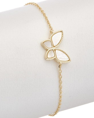 Alanna Bess Limited Collection 14K Over Silver Pearl Butterfly Bracelet