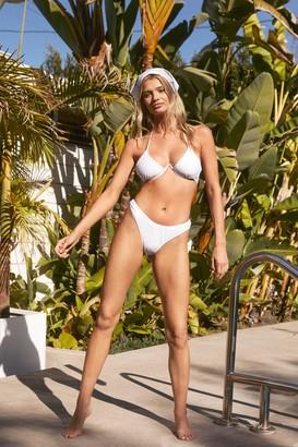 Nasty Gal Womens Something in the Water Triangle Bikini Set - White