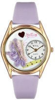 Whimsical Watches Women's C0440003 Classic Gold Knitting Lavender Leather And Goldtone Watch
