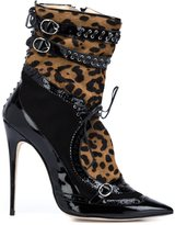 Marchesa 'Becca' booties - women - Pony Fur - 37